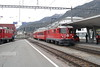 "4 May 2007 :: RhB Ge 4/4 II no. 624 ""Celerina / Schlarigna"" brings a train into Samedan"
