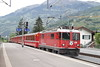 """4 May 2007 :: RhB Ge 4/4 II no. 618 """"Bergün/Bravuogn"""" is seen working a train from Landquart towards Davos"""