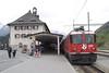 "4 May 2007 :: RhB Ge 4/4 II no. 620 ""Zernez"" standing at Scoul-Tarasp"