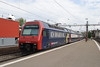3 May 2007 :: SBB 450 085 in a special livery has just made a stop at Thalwil and is departing with a train for Pfäffikon