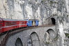 """3 May 2007 :: RhB Ge 4/4 III  no. 652 """"Vaz/Obervaz Lenzerheide-Valbella"""" is approaching the tunnel at the Landwasser Viaduct while working the 1758 from Chur to St. Moritz"""