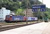 14 August 2007 :: Three SBB Cargo locomotives at Bellinzona, 620 058, 484 002, 484 007