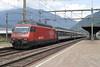 14 August 2007 :: SBB 460 110 leads a train through Giubiasco