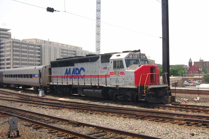 7 June 2007 :: MARC, the Maryland Area Regional Commuter system GP40WH-2 no. 51