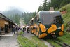 26 July 2008 :: The 1100 service from  Puchberg am Schneeberg to Schneeberg at Hochschneeberg stops at one of the intermediary stations for passengers to obtain refreshments at the station bar