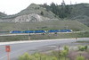 12 June 2008 :: Five Kelowna Pacific locomotives head a train near Kamloops.  They include GP38-2's nos. 2261 & 2267<br /> The Kelowna Pacific Railway was a short-line railroad and ran from Kelowna to Kamloops through the Okanagan Valley. Operations started on 30 January 2000, and ended on 5 July 2013, when the company entered receivership.
