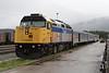 7 June 2008 :: At a wet Jasper, Via Rail F40PH-2 no. 6424