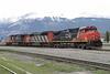 8 June 2008 :: Canadian National C44-9W no. 2512 + SD60F no. 5511 + C44-9W no. 2616 at Jasper