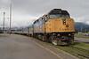 7 June 2008 :: Via Rail F40PH-2 no. 6437 at Jasper and will work the next days Skeena to Prince Rupert