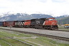 8 June 2008 :: Canadian Nation SD75I no. 5741 + SD60F 5504 are standing at Jasper