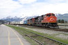 8 June 2008 :: Canadian National SD70M-2 no. 8834 + C40-8M no. 2437 on an west bound container train at Jasper