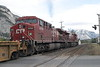24 September 2008 :: Canadian Pacific ES44AC no. 8716 + AC44CW no. 9768 pull away from Banff