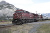 24 September 2008 :: On the outskirts of Banff a pair of CP AC44Cw's no.s 9585 + 9827