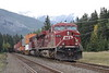 24 September 2008 :: CP ES44AC no. 8716 + AC44CW no. 9768 on an eastbound double stack intermodal train at Banff