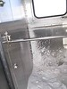 14 December 2008 :: Inside the vestibules of the coaches snow blows in which makes a marked difference in temperature to the passenger compartments