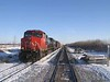 14 December 2008 :: Canadian National C44-9W no. 2578 leads a waiting freight train west of Edmonton