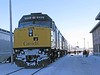 12 December 2008 :: Leading The Canadian is Via Rail F40PH-2 no. 6449 + 6435 and is seen on a scheduled stop at Hornepayne