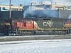 14 December 2008 :: A closer view of CN SD40u no. 6007 idling away at Edmonton