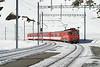 "12 February 2008 :: MGB Deh 4/4 no. 53 ""Urseren"" propels its train away from Nätschen on its way to Andermatt"