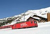 "12 February 2008 :: Another look at MGB He 4/4/ ii no. 106 ""St Gottard"" in Glacier Express 75 livery at Nätschen"