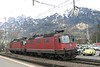 11 April 2008 :: SBB Re 4/4 locomotives stabled at Landquart, 1183 & 11358