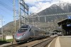 13 April 2008 :: A Trenitalia ETR 610 is pictured departing from Brig