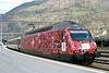 16 April 2008 :: SBB 460 015 in a special Euro 2008 livery is pictured at Brig