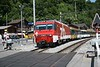 2 July 2008 :: ZB HGe 4/4II, 101 966 pulls away from Brienz Station on its way to Interlaken Ost
