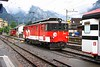 3 July 2008 :: ZB De 110 002 running round its train at Meiringen