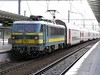 8 December 2009 :: SNCB Class 27 no. 2751 on a rake of double deck coaches at Bruges