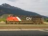 14 June 2009 :: CN ES44DC no. 2293 is seen between duties at Jasper