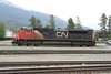 14 June 2009 :: CN SD70M-2 no. 8842 is moving around Jasper yard