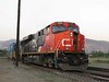 13 June 2009 :: Canadian National ES44DC no. 2281 leads an eastbound intermodal train at Kamloops