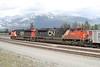 14 June 2009 :: A study of SD70M-2 no. 8834 + ES44DC no. 2304 leading a coal train through Jasper