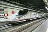 """17 May 2009 :: RENFE AVE Class 102 at Barcelona Sants Station.  The Class 102 is a  Mk1 """"Talgo 350"""" high-speed standard gauge unit"""