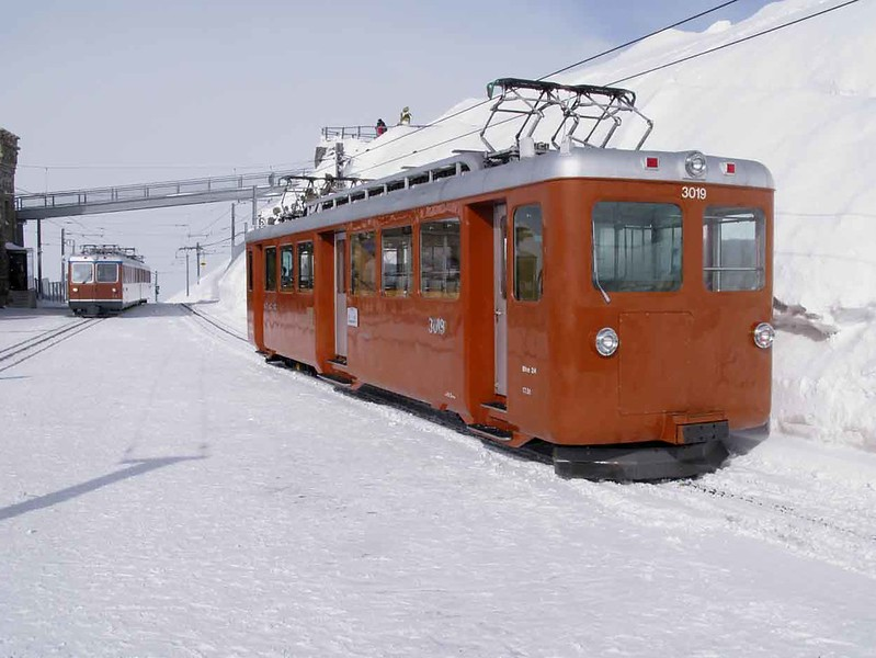 16 February 2009 :: Gornergratbahn Bhe  2/4 no. 3019 at Gornergrat Station