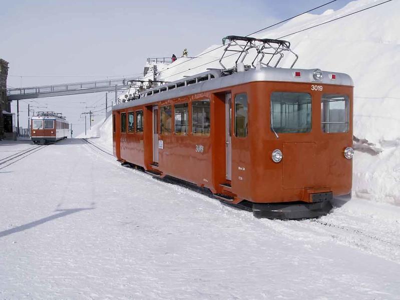 16 February 2009 :: Gornergratbahn Bhe  2/4 no. 3019 at Gornergrat Station