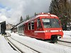 18 February 2009 :: Mont Blanc Express BDeh4/8 (Z 800) no.1 departing from Chamonix Mont-Blanc