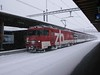 """17 February 2009 :: Pictured with heavy snow falling at Interlaken Ost is ZB liveried 101 964 """"Sachseln"""""""