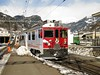 20 February 2009 :: Rhb ABe 4/4 ii no. 51 in a special UNESCO livery rolls slowly into Poschiavo