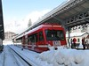 18 February 2009 :: Another view of TMR Beh4/8 no. 52 at Chamonix Mont-Blanc