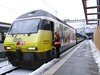 18 February 2009 :: The crew of Log In liveried 460 053 prepare to depart from Brig