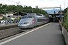 18 July 2009 :: A TGV unit with one of the SNCF services that commence in Switzerland running through Vevey Station