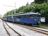 15 July 2009 :: In a plain blue Golden Pass livery is MOB BDe 4/4 no. 3006 which is being used as departmental unit and is seen passing through Gstaad