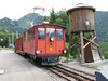 19 July 2009 :: The Montreux–Glion–Rochers-de-Naye Railway (MGN) is an 800mm rack railway.  Pictured is no. 2, a 1909 built HGe 2/2 at Caux