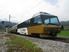 15 July 2009 :: On the rear of the special Train du Chocolat is a Golden Pass observation car