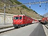 """1 October 2009 :: MGB He 4/4ii no. 5 """"Mount Fuji"""" is arriving at Zermatt with a local train from Brig"""