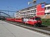 30 September 2009 :: In a BUGA livery is RhB Ge 4/4ii no. 646 passing through Chur with a train for Landquart