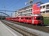 30 September 2009 :: Arriving at Chur is a Class Be 4/4 single ended motor coach no. 516 with a train from Landquart