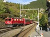 """28 September 2009 :: Arriving into Filisyr is Ge 4/4i no. 608 """"Madrisa"""" with a train from Pontresina which will head in the direction of Davos"""